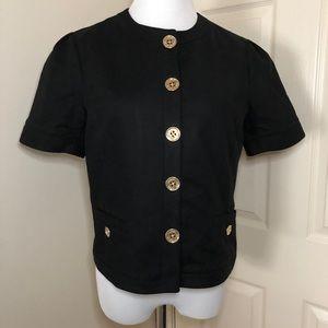 Lauren Ralph Lauren Button Front Waist Jacket